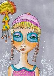 Art: Sad To See You Go-Sold by Artist Sherry Key