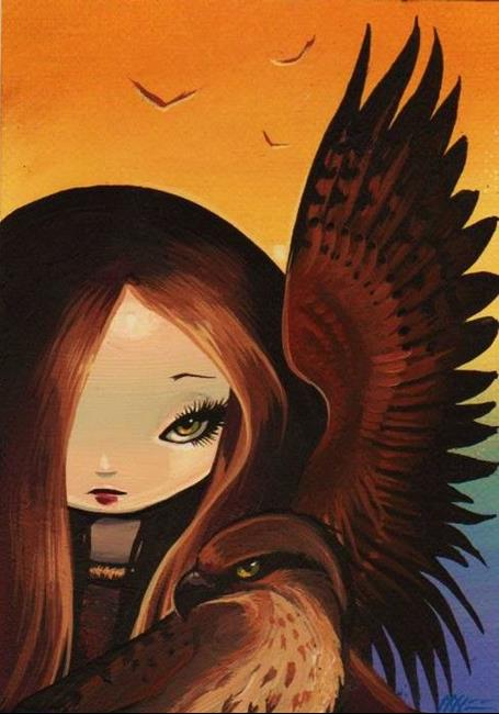 Art: Feathered Familiar by Artist Nico Niemi