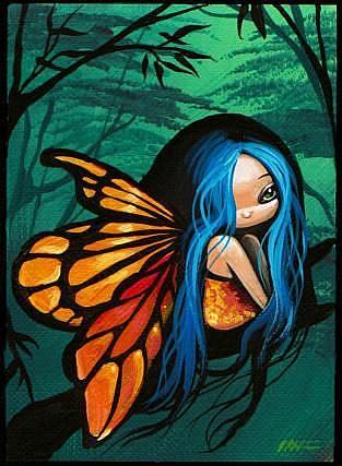 Art: Tiny Forest Fairy-Art Card by Artist Nico Niemi