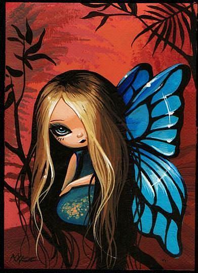Art: Tiny Blue Fairy by Artist Nico Niemi