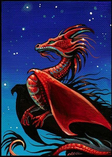 Art: Starlight Dragon-aceo by Artist Nico Niemi