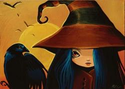 Art: Witch and Crow by Artist Nico Niemi