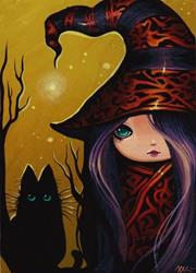 Art: Little Witch and Kitty by Artist Nico Niemi