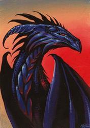 Art: Black Dragon by Artist Nico Niemi