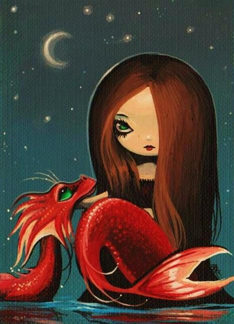 Art: Misty Moon by Artist Nico Niemi