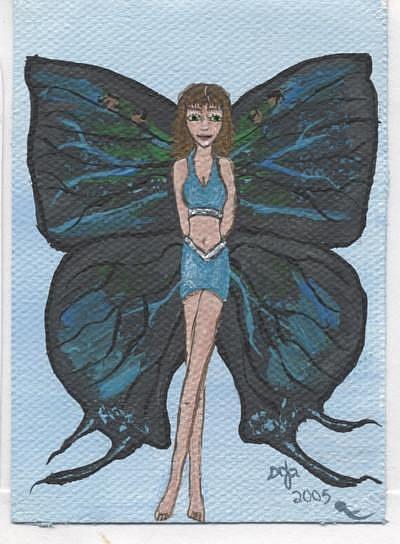 Art: Butterfly Fairy #5 Great purple hairstreak by Artist Sandi Gayle Stefkovich