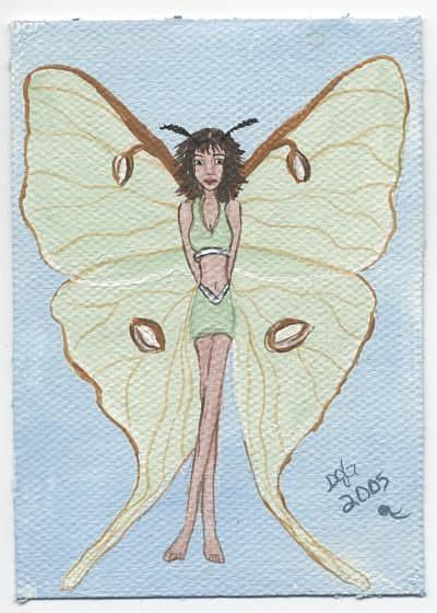 Art: Butterfly Fairy #7 Moon Moth by Artist Sandi Gayle Stefkovich