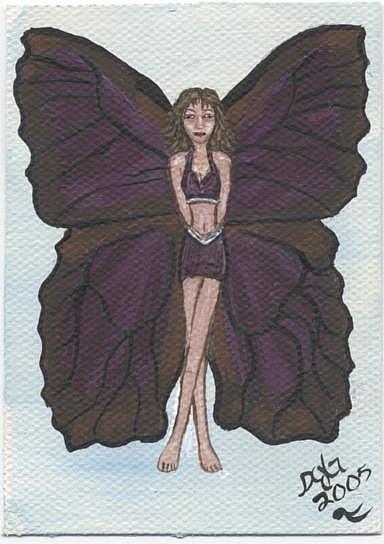 Art: Butterfly Fairy #8 dark purple azure by Artist Sandi Gayle Stefkovich