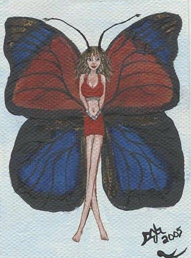 Art: Butterfly Fairy #9 Shulze's Agrias by Artist Sandi Gayle Stefkovich