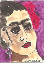 Art: Forty Fridas # 31 by Artist Nancy Denommee