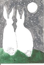 Art: Bunny Hunnies by Artist Nancy Denommee