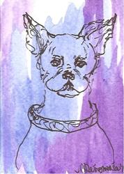 Art: Chi Chi Chihuahua by Artist Nancy Denommee