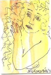 Art: Golden Tresses Nudes in Abstract Series 2 by Artist Nancy Denommee