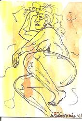 Art: Nude in Abstract Series 2 # 2 by Artist Nancy Denommee
