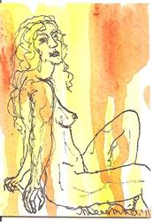 Art: Nudes in Abstract Series 2 # 3 by Artist Nancy Denommee