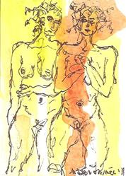 Art: Nudes in Abstract Series 2 # 4 by Artist Nancy Denommee