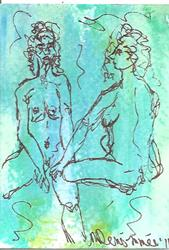 Art: Nudes in Abstract Series 2 #6 by Artist Nancy Denommee