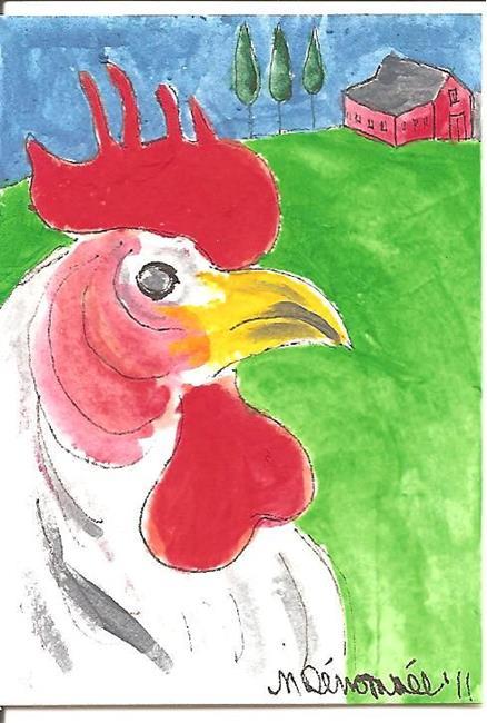 Art: Master of the Farmyard by Artist Nancy Denommee