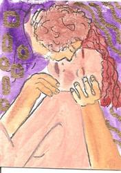 Art: the embrace ala Klimt SOLD by Artist Nancy Denommee