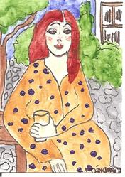 Art: The Polka Dot Nightgown by Artist Nancy Denommee