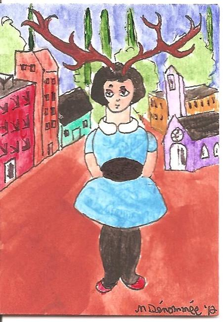 Art: Jane Doe in Town by Artist Nancy Denommee