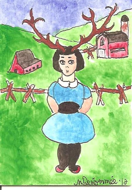 Art: Jane Doe on the Farm by Artist Nancy Denommee