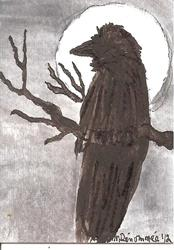 Art: Raven in the Moonlight by Artist Nancy Denommee