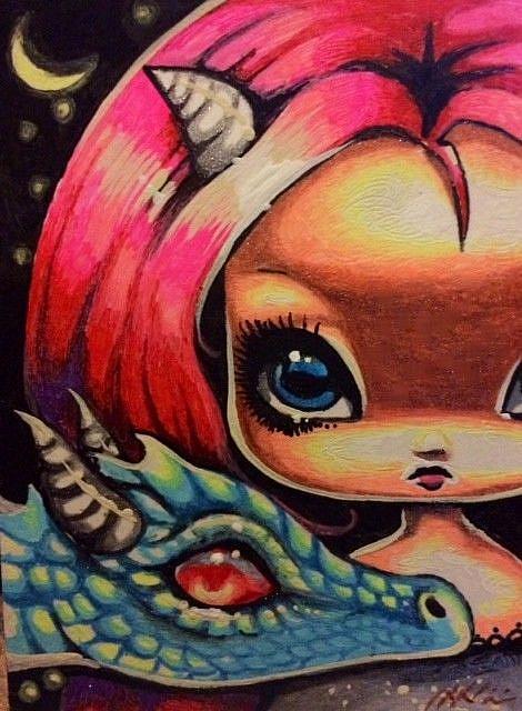 Art: Drakonette Child by Artist Nico Niemi