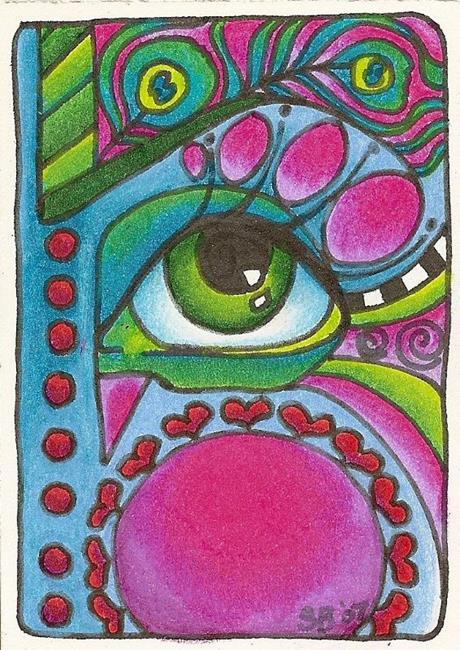 Art: Peacock (sold) by Artist Shelly Bedsaul