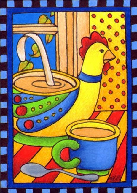 Art: Chicken Soup (sold) by Artist Shelly Bedsaul
