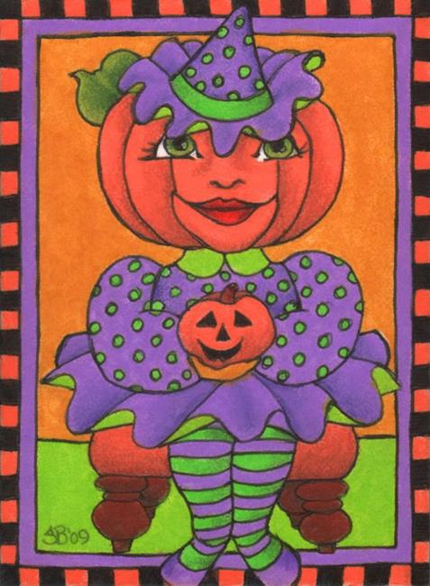 Art: Our Lil' Punkin' (sold) by Artist Shelly Bedsaul