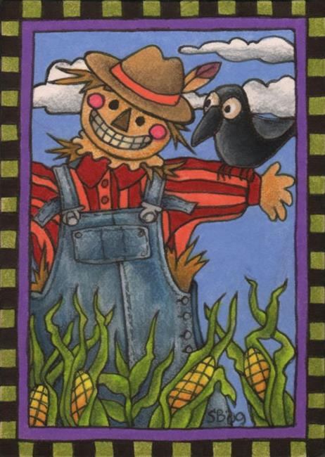 Art: Scarecrow by Artist Shelly Bedsaul