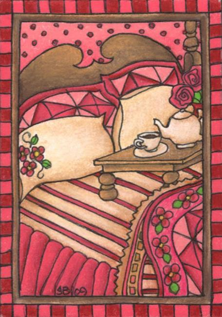 Art: Breakfast in Bed by Artist Shelly Bedsaul