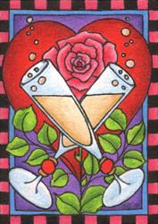 Art: A Toast to Romance by Artist Shelly Bedsaul