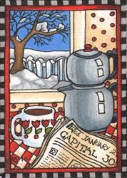 Art: Morning Paper by Artist Shelly Bedsaul