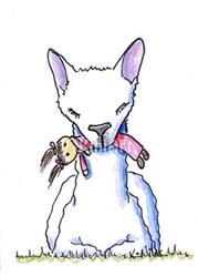 Art: Dolly Llama by Artist KiniArt