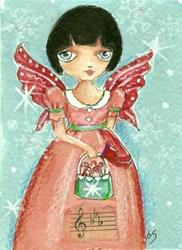 Art: Candycane Fairy by Artist Betty Stoumbos