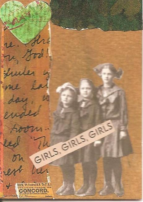 Art: girls girls girls by Artist Nancy Denommee