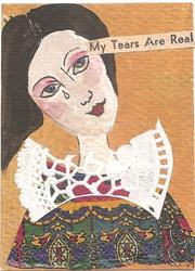 Art: My Tears are Real SOLD by Artist Nancy Denommee