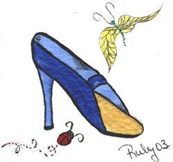 Art: Fancy shoe 20 by Marcia Ruby