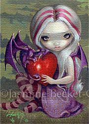 Art: Valentine Dragon ACEO by Artist Jasmine Ann Becket-Griffith