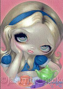 Art: Alice's Tea Party ACEO by Artist Jasmine Ann Becket-Griffith