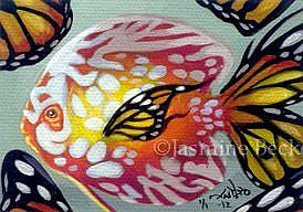 Art: Petit Poisson ACEO by Artist Jasmine Ann Becket-Griffith