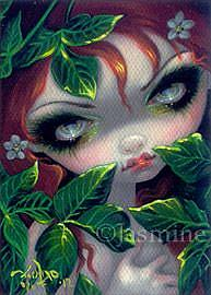 Art: Poisonous Beauties IV - Poison Ivy ACEO by Artist Jasmine Ann Becket-Griffith