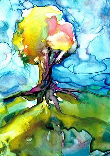 Art: Tree of Splendor 1 by Artist Kathy Morton Stanion