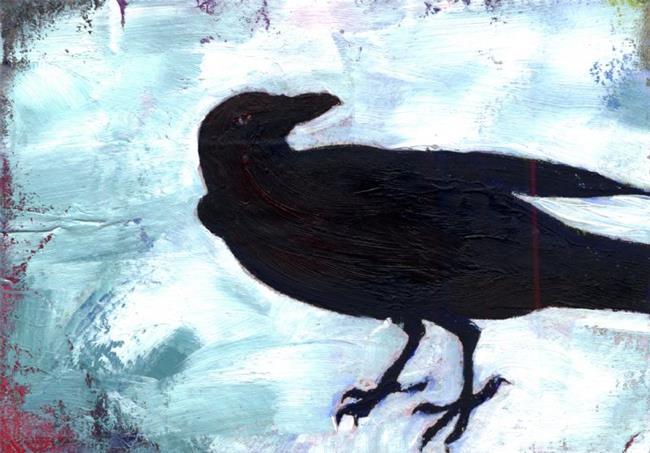 Art: Crow by Artist Kathy Morton Stanion
