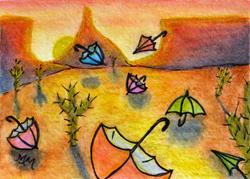 Art: Umbrella Tumbleweeds by Artist Monique Morin Matson