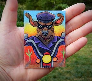 Detail Image for art Biker Hound - MM14  (SOLD)