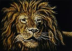 Art: Leo Lion  (SOLD) by Artist Monique Morin Matson