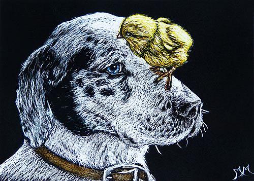 Art: Hitchin' A Ride  (SOLD) by Artist Monique Morin Matson